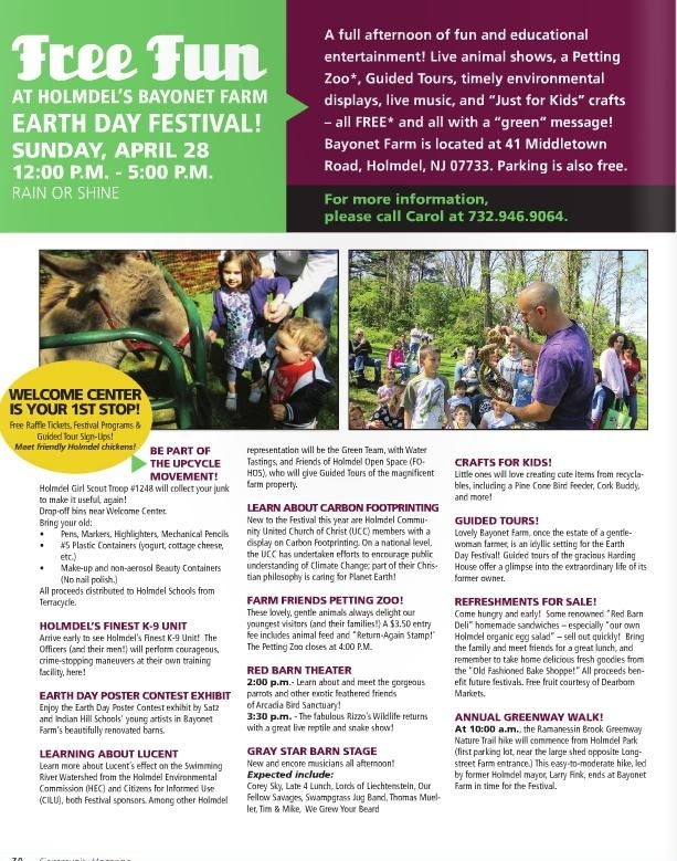 Earth Day Festival - Bayonet Farms, Holmdel, NJ: 4/28