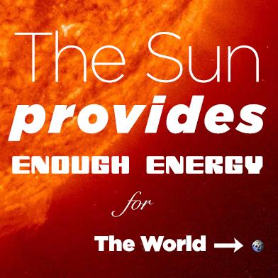 Sun > Earth = Abundance
