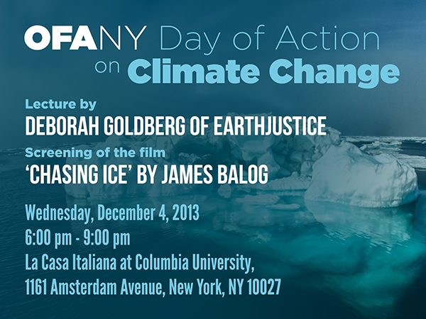 EarthJustice Lecture & 'Chasing Ice' Screening (NYC)